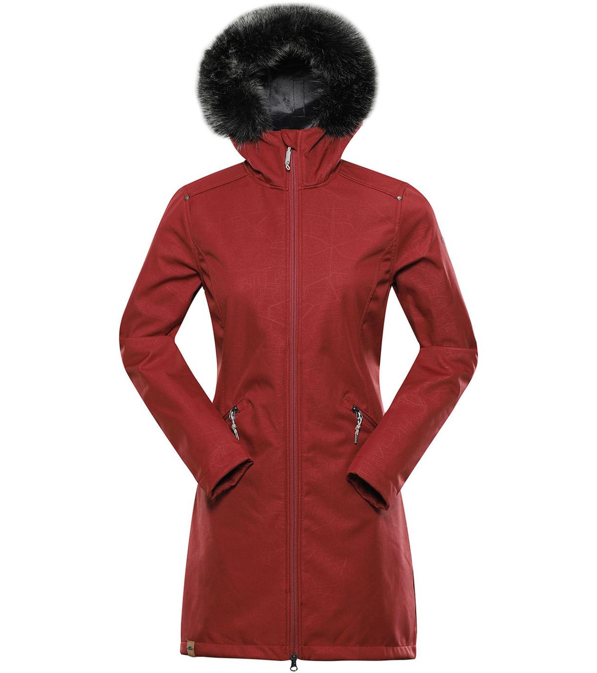 ALPINE PRO PRISCILLA 5 INS. Dámský softshellový kabát LCTU148813 rose XS