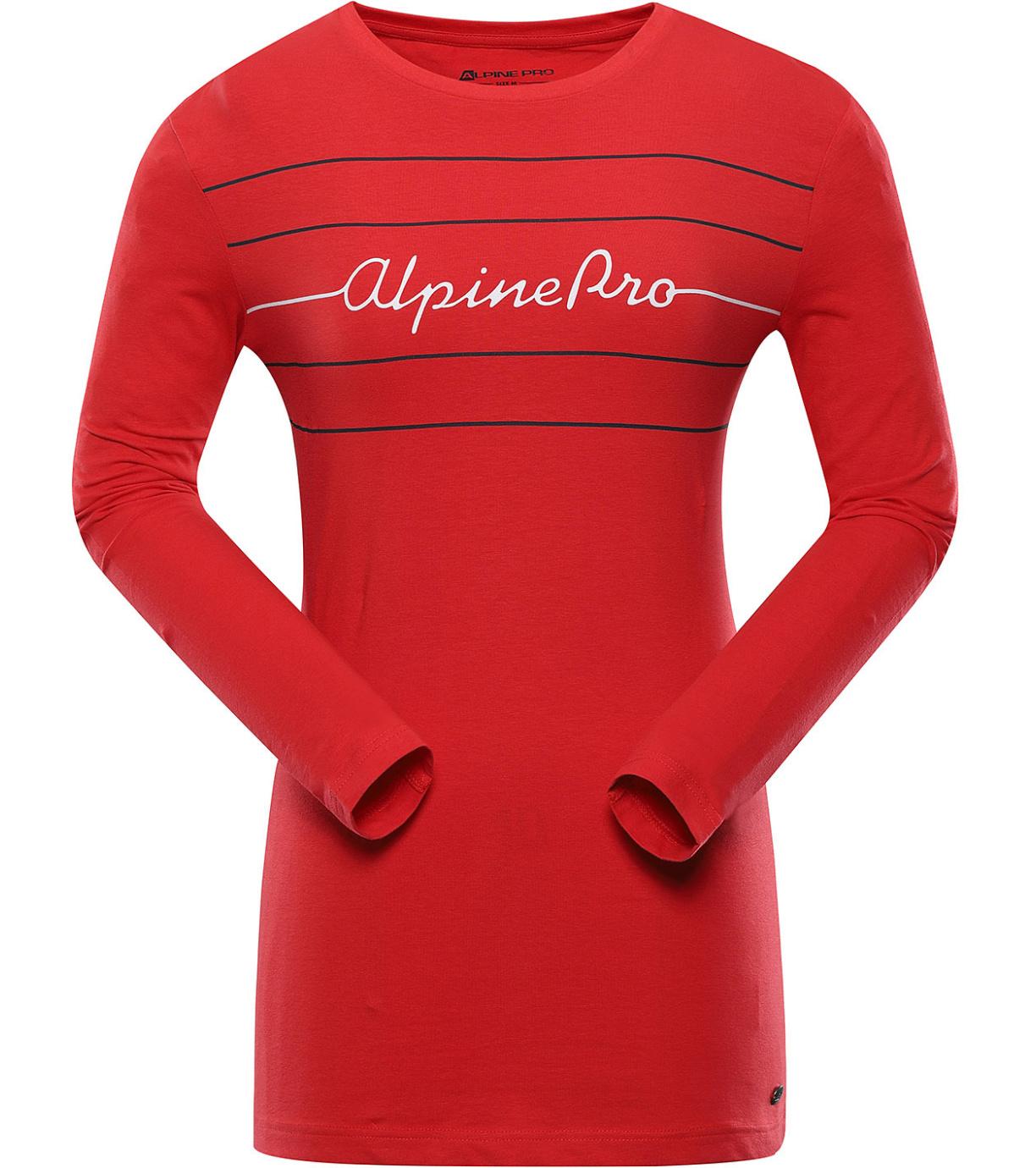 ALPINE PRO MEGANA 2 Dámské triko dlouhý rukáv LTSU757423PB červená XXL
