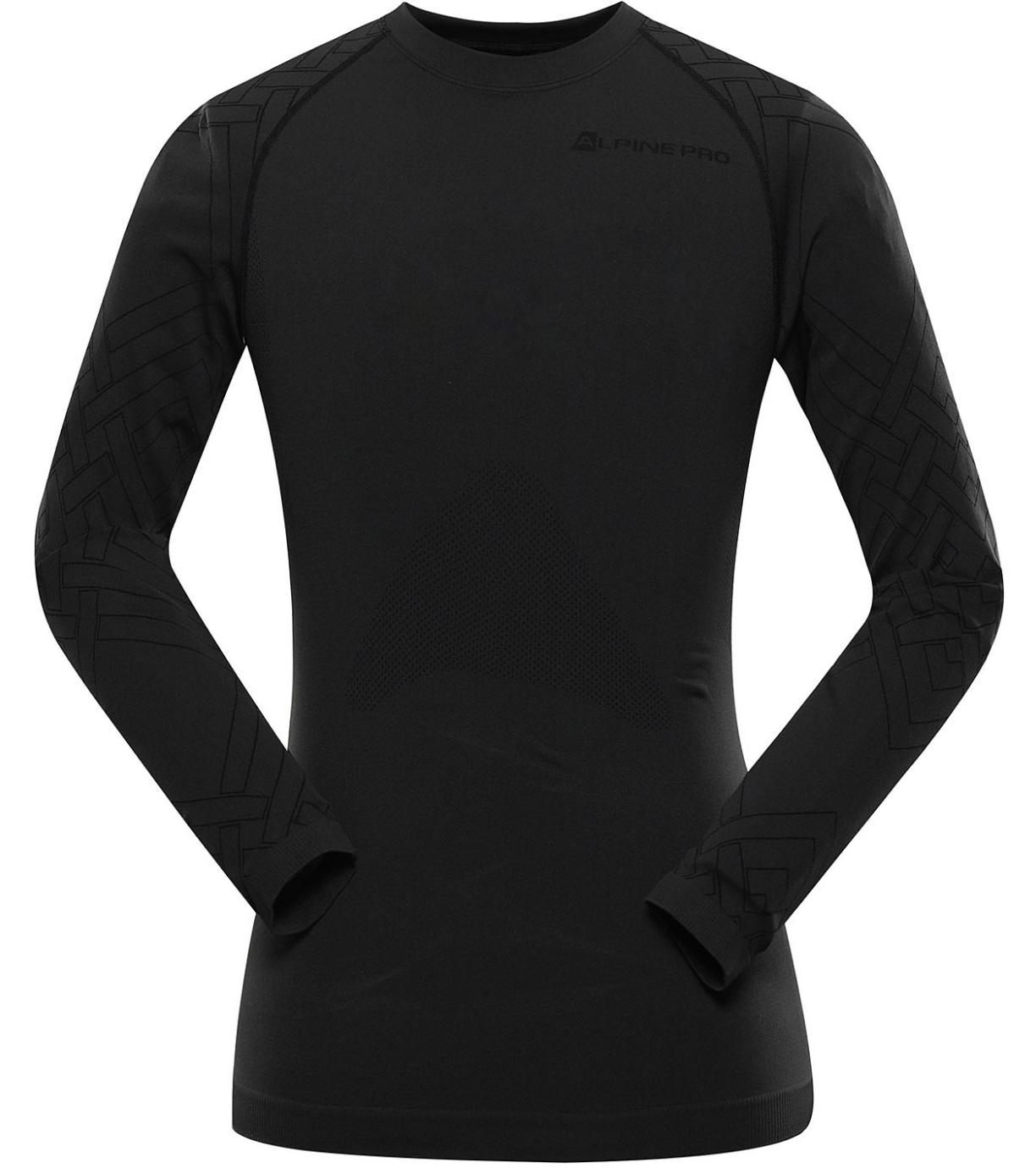 ALPINE PRO KRATHIS 6 Pánské termo triko s dlouhý rukáv MUNU067990PB černá XS-S