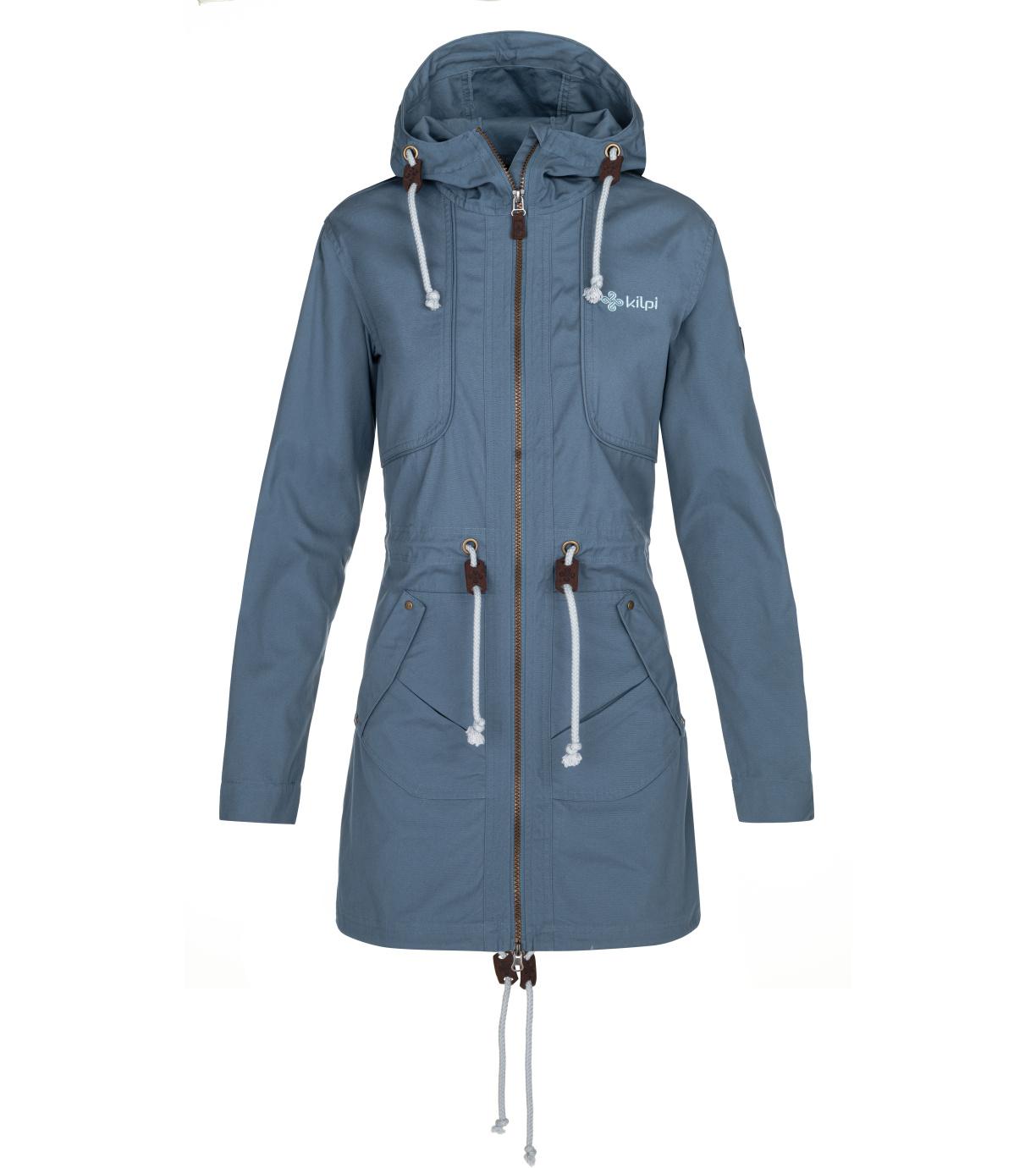 KILPI Dámský podzimní kabát PAU-W NL0081KIBLU Modrá 36