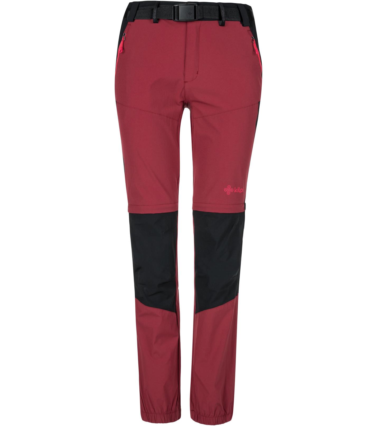 KILPI Dámské outdoorové kalhoty HOSIO-W KL0071KIDRD Červená 36