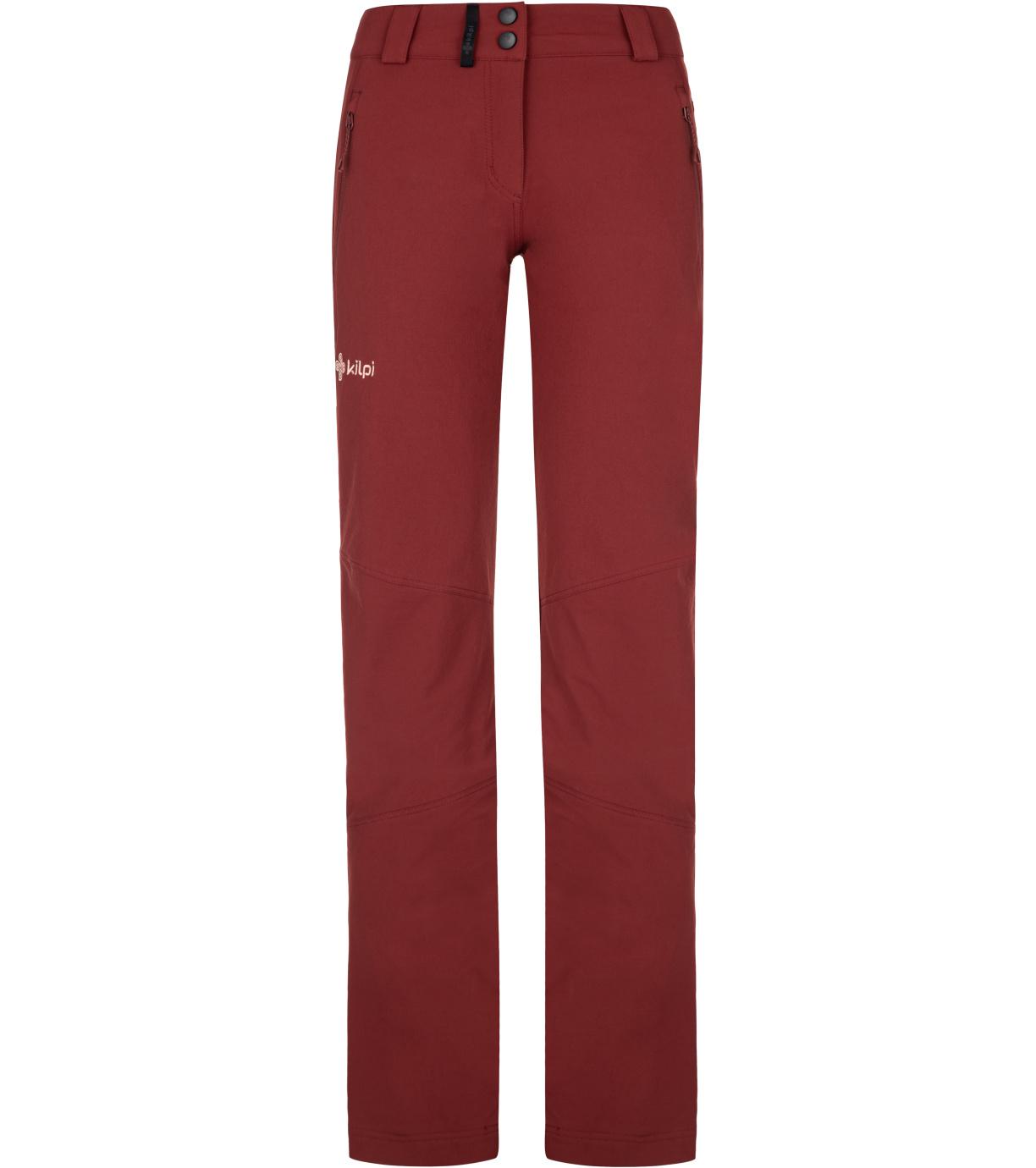KILPI Dámské outdoorové kalhoty LAGO-W NL0012KIDRD Červená 34