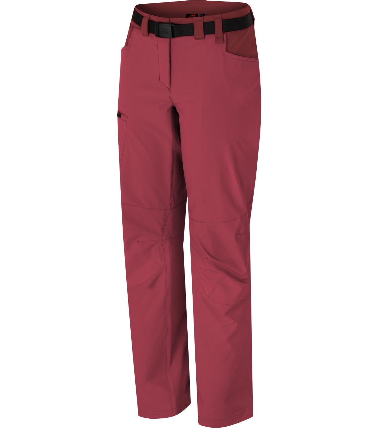 HANNAH MOA Dámské outdoorové kalhoty 10011109HHX01 deep claret/sun-dried tomato 36