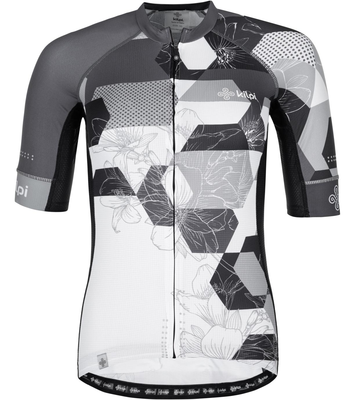 KILPI Dámský cyklistický dres - větší velikosti ADAMELLO-W PLX045KIBLK Černá 54