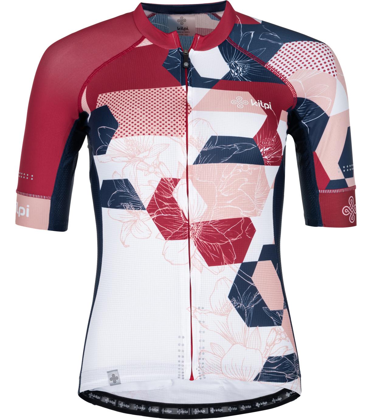 KILPI Dámský cyklistický dres - větší velikosti ADAMELLO-W PLX045KIPNK Růžová 52