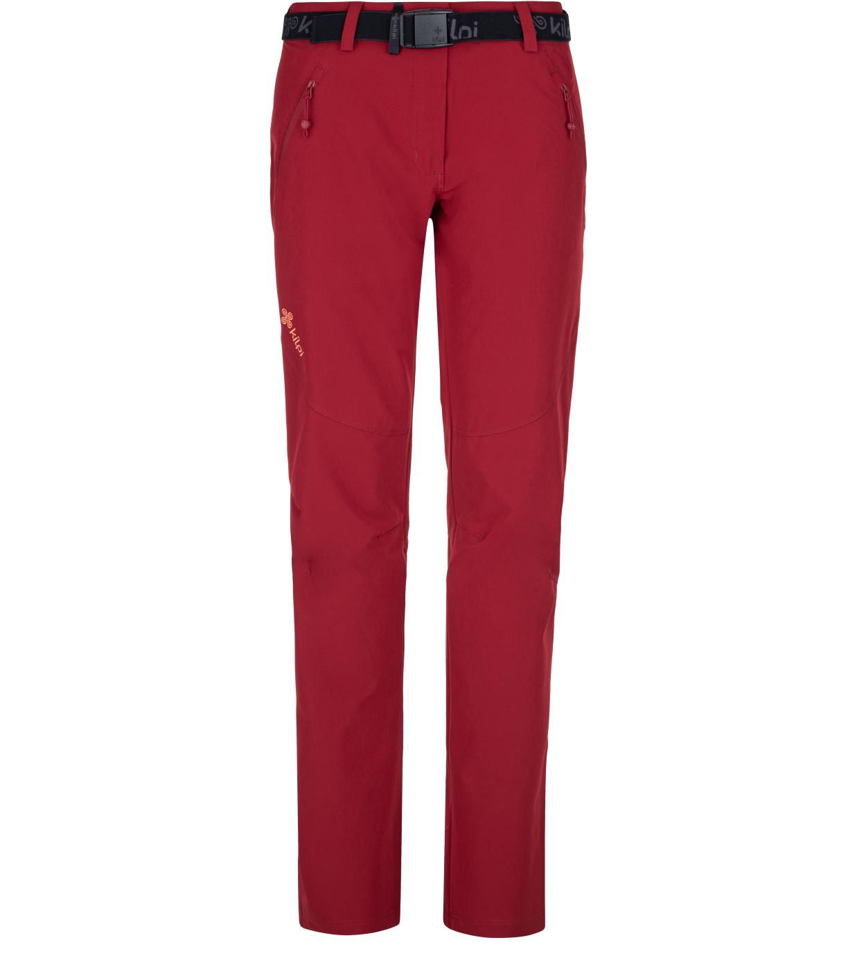 KILPI Dámské outdoorové kalhoty WANAKA-W PL0027KIDRD Červená 34