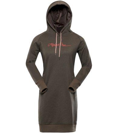 ALPINE PRO LAKIA 2 Dámské mikinové šaty LSKU318118 Simply taupe XS