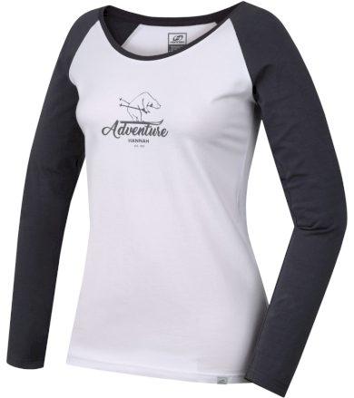 HANNAH FABRIS Dámské triko s dlouhým rukávem 10000223HHX01 bright white/castlerock 40