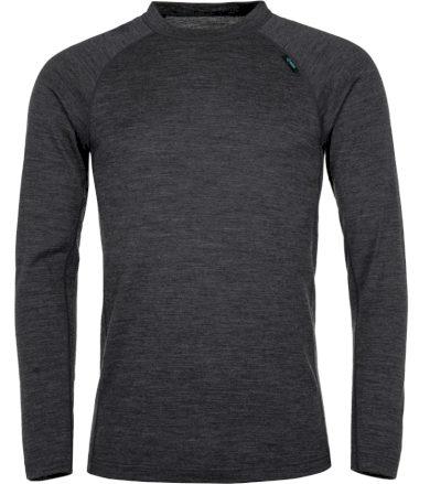 KILPI Pánské termo tričko - merino PATTON-M JM0204KIDGY Tmavě šedá XXL