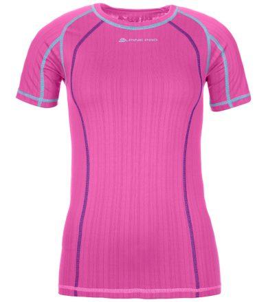 ALPINE PRO UNDERA Dámské spodní funkční triko LUNN050415 Fuchsiová růžová XS