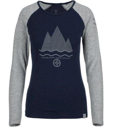 KILPI Dámské bavlněné tričko SKIP-W JL0227KIDBL Tmavě modrá 36
