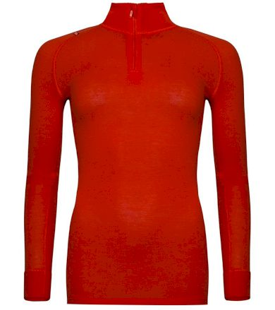ALPINE PRO GENETA 2 Dámské spodní triko s dlouhým rukávem - merino LUNP047344 cherry tomato XS-S