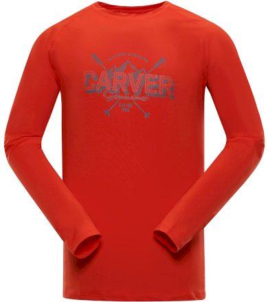 ALPINE PRO TAR Pánské funkční triko s dlouhým rukávem MTSP401344PA cherry tomato M