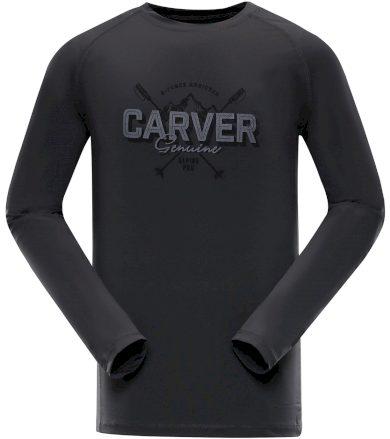 ALPINE PRO TAR Pánské funkční triko s dlouhým rukávem MTSP401779PA tmavě šedá L