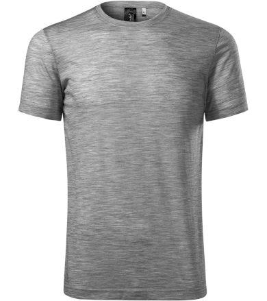 Malfini premium MERINO RISE Pánské technické triko 15712 tmavě šedý melír XXXL
