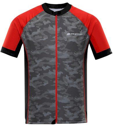 ALPINE PRO MARK Pánský cyklistický dres MTSR461423PA červená S