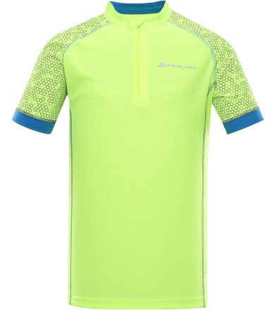 ALPINE PRO SORAN Pánský cyklistický dres MTSR351530PB reflexní žlutá XS