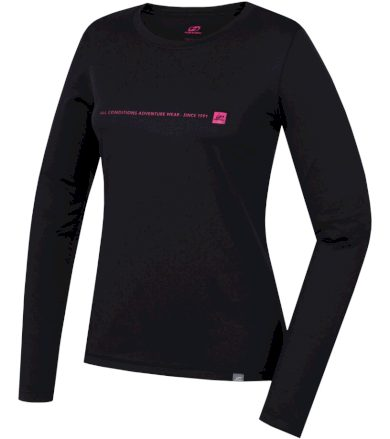 HANNAH TERELLO Dámské triko s dlouhým rukávem 10000211HHX01 Anthracite (pink) 38