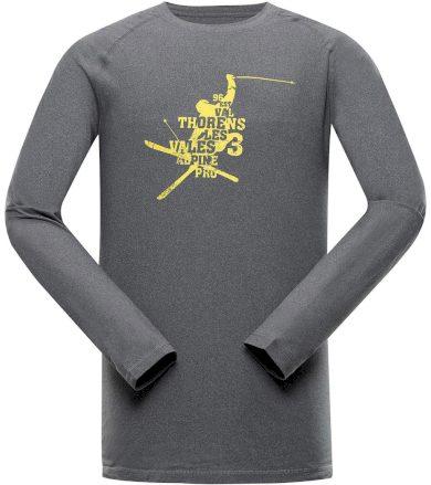 ALPINE PRO TAR 2 Pánské funkční triko s dlouhým rukávem MTSS552779 tmavě šedá XS