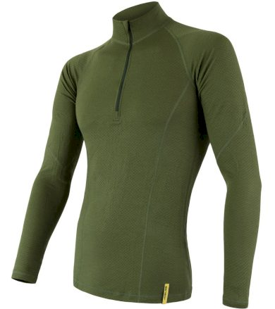MERINO DF Pánské funkční oboustranné triko dl. rukáv 17200033 safari L