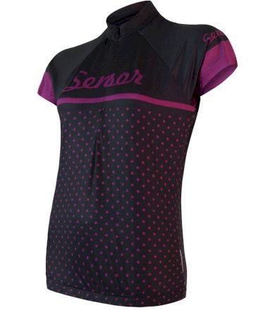 CYKLO DOTS Dámský cyklistický dres 18100078 černá M