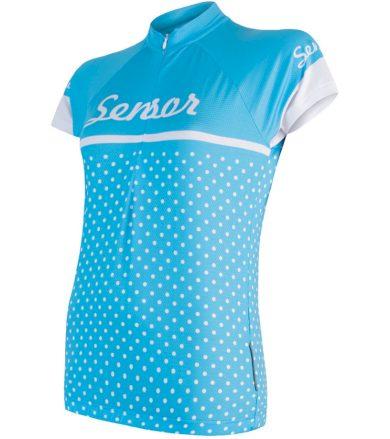 CYKLO DOTS Dámský cyklistický dres 18100079 modrá XL