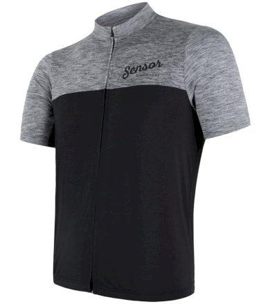 CYKLO MOTION Pánský cyklistický dres 18100061 šedá/černá XXL