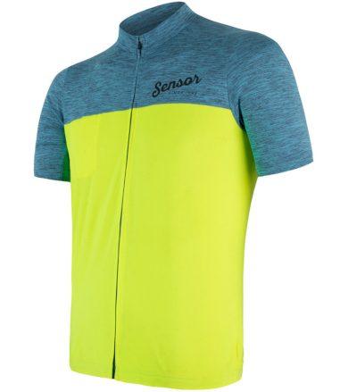 CYKLO MOTION Pánský cyklistický dres 18100060 modrá/žlutá S