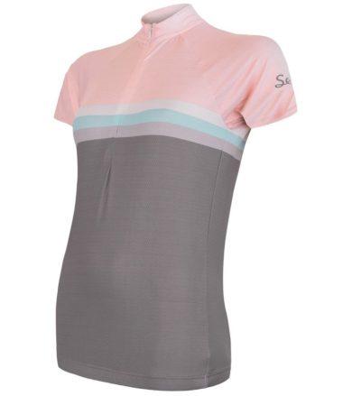CYKLO SUMMER STRIPE Dámský cyklistický dres 20100063 šedá/růžová XL