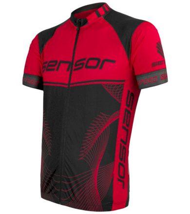 CYKLO TEAM UP Pánský cyklistický dres 20100043 černá/červená S