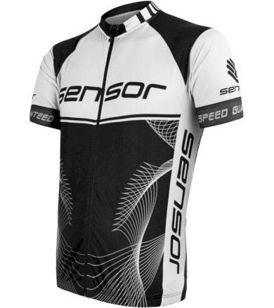 CYKLO TEAM UP Pánský cyklistický dres 20100042 černá/bílá S