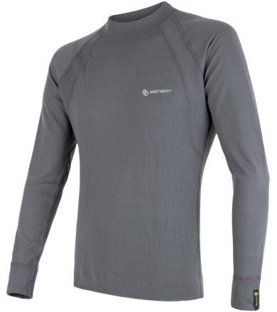 DOUBLE FACE Pánské funkční triko dlouhý rukáv 16200045 šedá XL