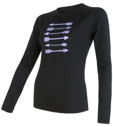 MERINO ACTIVE PT ARROWS Dámské funkční triko dlouhý rukáv 17100056 černá XL