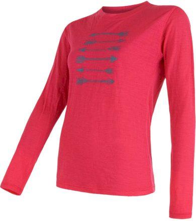 MERINO ACTIVE PT ARROWS Dámské funkční triko dlouhý rukáv 16200126 magenta S