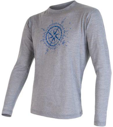 MERINO ACTIVE PT COMPASS Pánské funkční triko dlouhý rukáv 16200099 šedá S