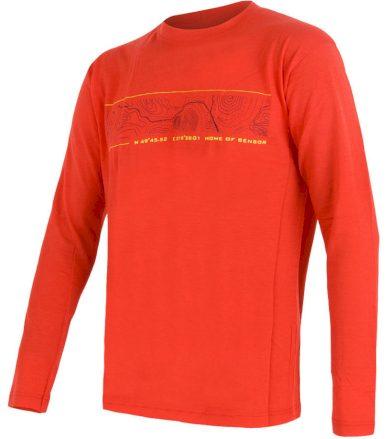 MERINO ACTIVE PT GPS Pánské funkční triko dlouhý rukáv 12110037 červená L