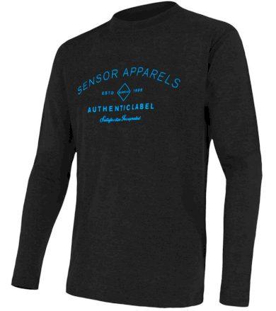 MERINO ACTIVE PT LABEL Pánské funkční triko dlouhý rukáv 18200016 černá XL