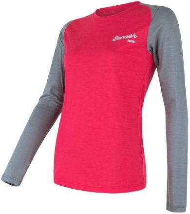 MERINO ACTIVE PT LOGO Dámské funkční triko dlouhý rukáv 18100022 magenta/šedá L