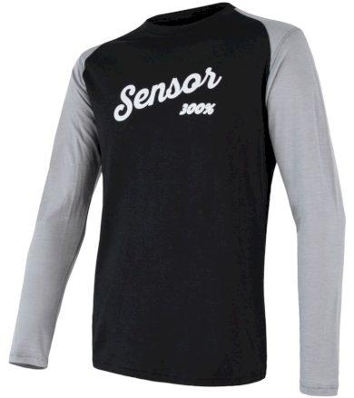MERINO ACTIVE PT LOGO Pánské funkční triko dlouhý rukáv 18100018 černá/šedá S