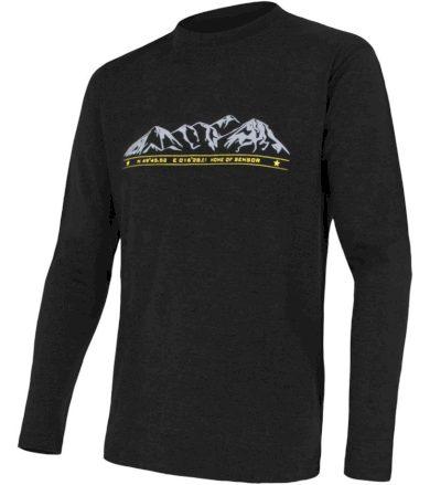 MERINO ACTIVE PT MOUNTAINS Pánské funkční triko dlouhý rukáv 15200015 černá XXL