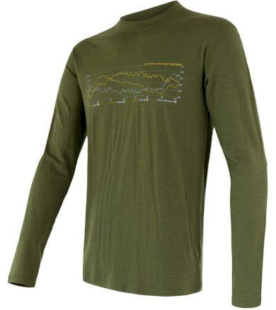 MERINO ACTIVE PT TRACK Pánské funkční triko dlouhý rukáv 17200027 safari M