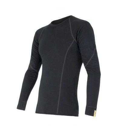 MERINO ACTIVE Pánské funkční triko dlouhý rukáv 11109033 černá L