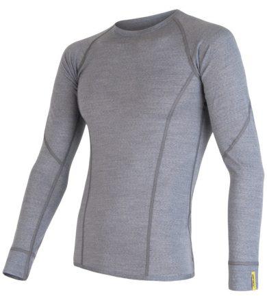 MERINO ACTIVE Pánské funkční triko dlouhý rukáv 17200020 sv.šedá S