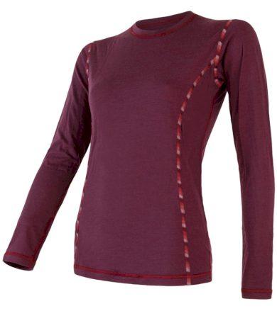 MERINO AIR Dámské funkční triko dlouhý rukáv 18200006 tm.vínová XL