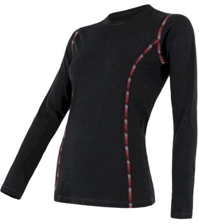 MERINO AIR Dámské funkční triko dlouhý rukáv 18100004 černá XL