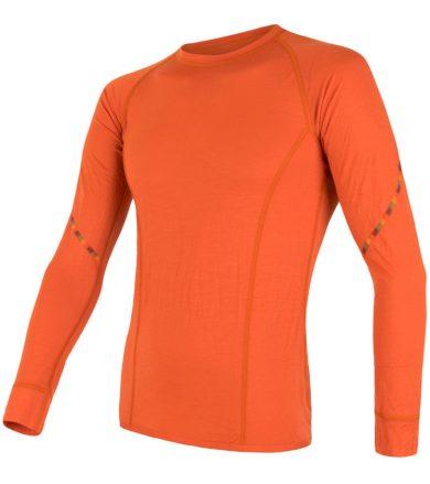 MERINO AIR Pánské funkční triko dlouhý rukáv 18100002 tm.oranžová S