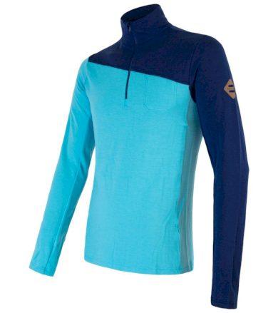 MERINO EXTREME Pánské funkční triko dlouhý rukáv 20200026 modrá S