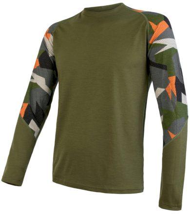 MERINO IMPRESS Pánské termo triko dlouhý rukáv 19200021 safari/camo L