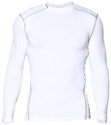 Under Armour CG ARMOUR MOCK Pánské kompresní triko dl. rukáv 1265648-100 White S