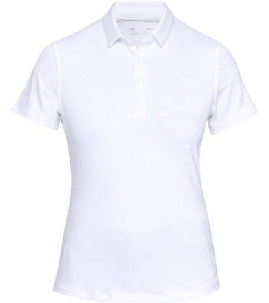 Under Armour Zinger Short Sleeve Polo Dámské triko 1326888-100 White L
